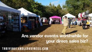 Is it worthwhile to do vendor events for your Scentsy business?