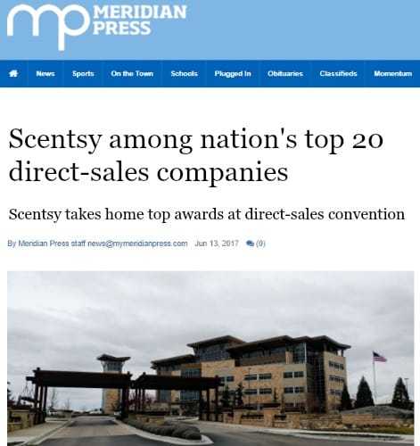 Scentsy earns top awards