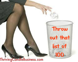 throw out that list of 100