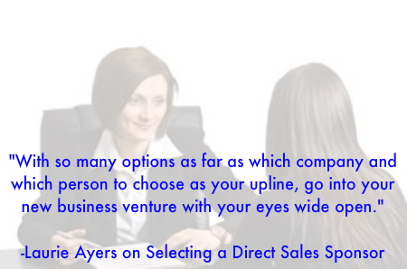 Selecting a direct sales sponsor