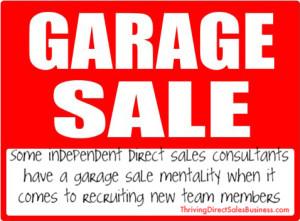 garage sale mentality
