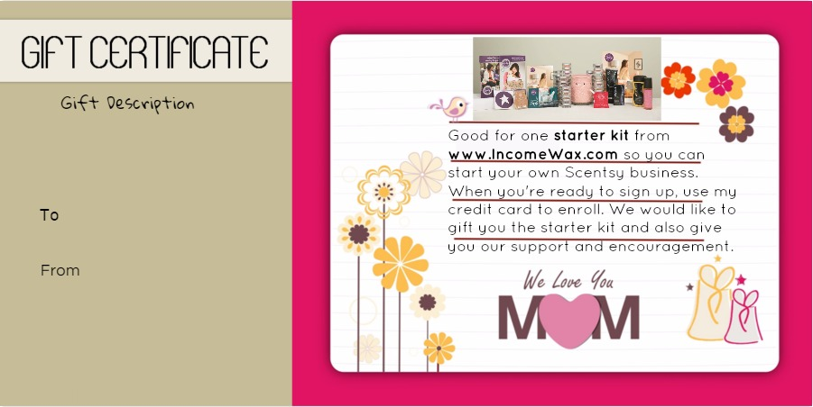 scentsy gift certificate