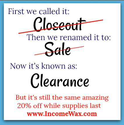 Closeout Sale Clearance