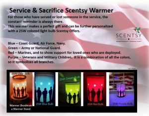 Scentsy military RED day
